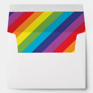 Rainbow colors envelope