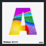 """Rainbow Colors Fantasy Alphabet Wall decal<br><div class=""""desc"""">Colorful and Bright Fantasy Abstract Pattern</div>"""