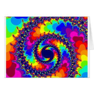 Rainbow Colors Fractal Image Card