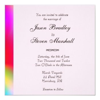Rainbow Colors Gay Wedding Card