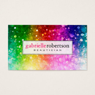 Rainbow Colors Glitter And Sparkles Business Card