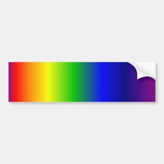 Rainbow Colors Gradient Bumper Sticker Car Bumper Sticker