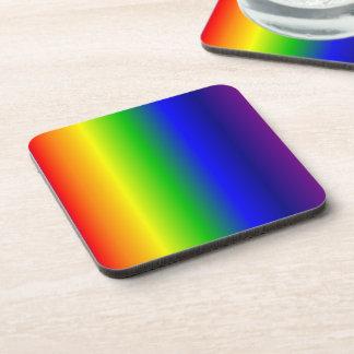 Rainbow Colors Hard Plastic Coaster