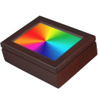 Rainbow colors keepsake box