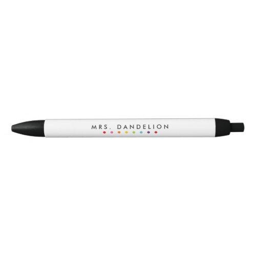 Rainbow Colors | Kindergarten Teacher Black Ink Pen