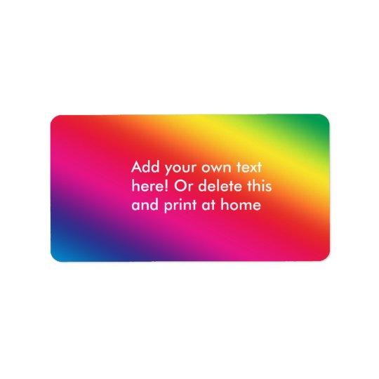 Rainbow Colors Label