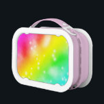 """RAINBOW COLORS LUNCH BOX<br><div class=""""desc"""">A colorful design with bright colors and stars.</div>"""