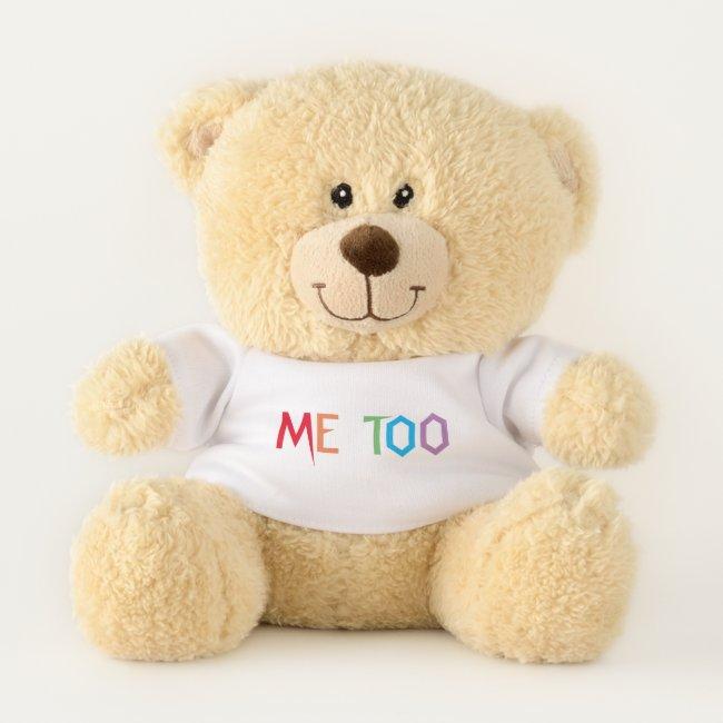 Rainbow Colors ME TOO Teddy Bear