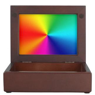 Rainbow colors memory box