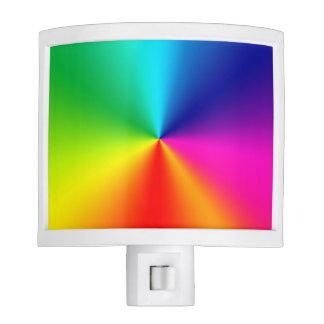 Rainbow colors night light