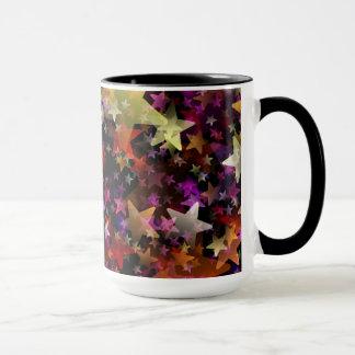 Rainbow Colors of Stars Background Mug