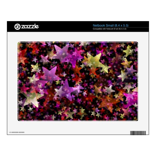 Rainbow Colors of Stars Background Skin For Small Netbook