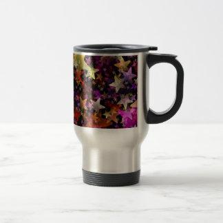 Rainbow Colors of Stars Background Travel Mug