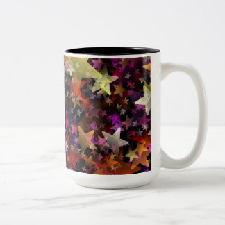 Rainbow Colors of Stars Background Two-Tone Coffee Mug