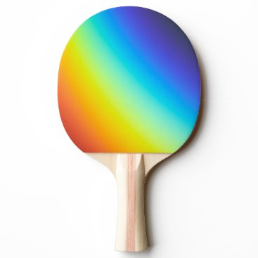 Rainbow Colors Ping Pong Paddle