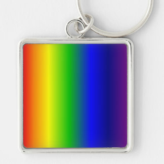 Rainbow Colors Premium Square Keychain