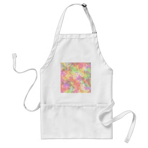 Rainbow Colors. Pretty, Colorful Clouds. Adult Apron