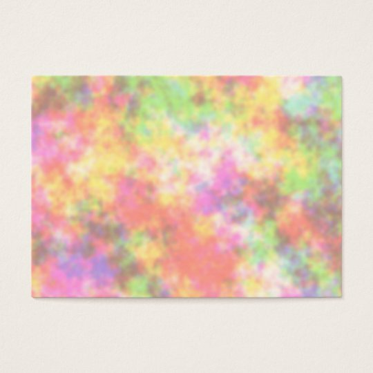 Rainbow Colors. Pretty, Colorful Clouds. Business Card