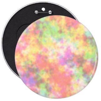 Rainbow Colors. Pretty, Colorful Clouds. Button