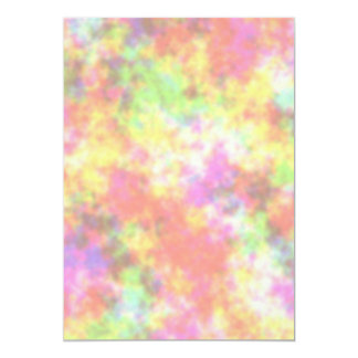 Rainbow Colors. Pretty, Colorful Clouds. Card