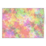 Rainbow Colors. Pretty, Colorful Clouds. Greeting Card