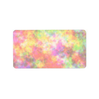 Rainbow Colors Pretty Colorful Clouds Personalized Address Label
