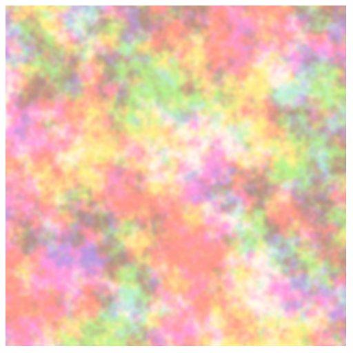 Rainbow Colors. Pretty, Colorful Clouds. Photo Sculpture Magnet