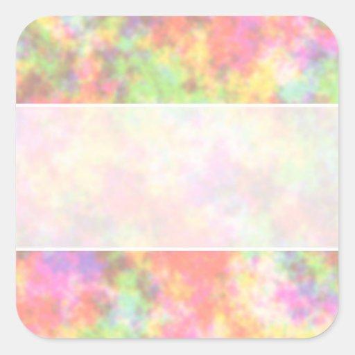 Rainbow Colors. Pretty, Colorful Clouds. Square Sticker