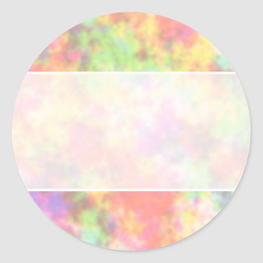 Rainbow Colors. Pretty, Colorful Clouds. Round Stickers