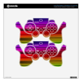 Rainbow Colors PS3 Controller Skins
