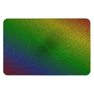 rainbow colors rectangular photo magnet