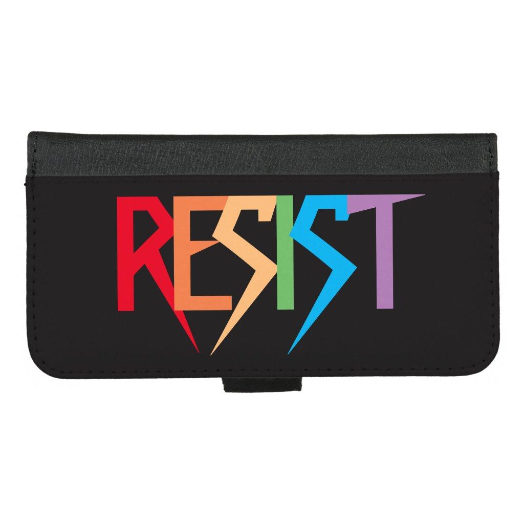 Rainbow Colors Resist iPhone 8/7 Plus Wallet Case
