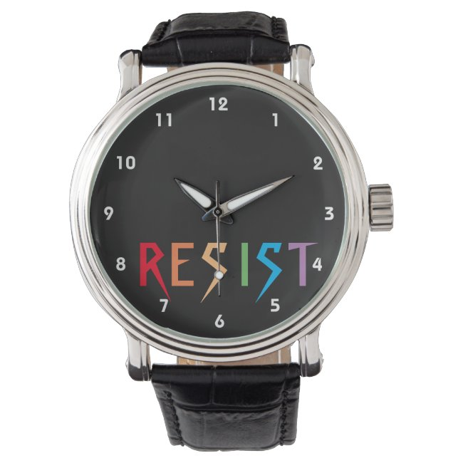 Rainbow Colors Resist Watch