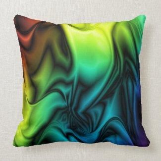Rainbow Colors Soft Silk pillow
