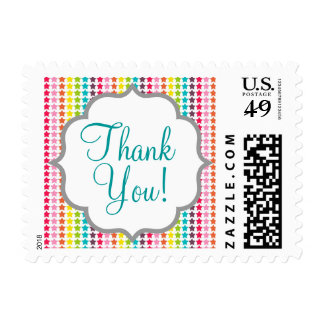 Rainbow Colors Star Pattern Stamp