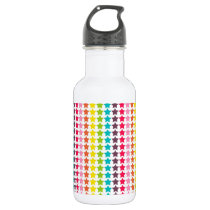 Rainbow Colors Star Pattern Stainless Steel Water Bottle