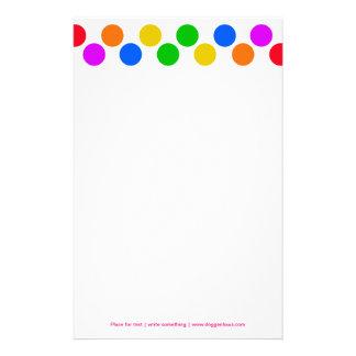 Rainbow colors stationery