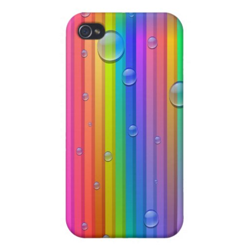Rainbow Colors Stripe iPhone 4 Case