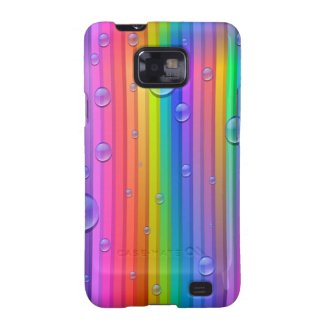 Rainbow Colors Stripe Samsung Galaxy S2 Case