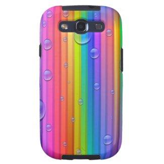 Rainbow Colors Stripe Samsung Galaxy S3 Case