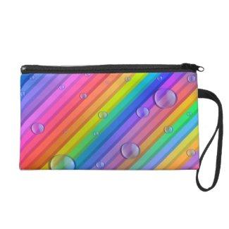 Rainbow Colors Stripe Wristlet