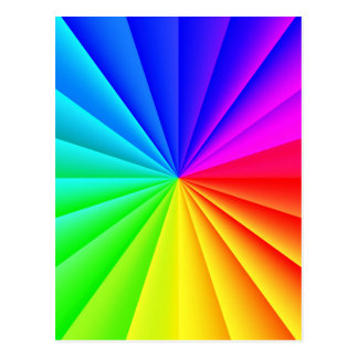 Rainbow colors stripes pattern postcard