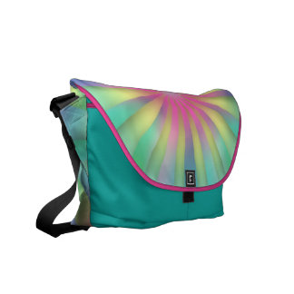 Rainbow colors vanishing point commuter bags