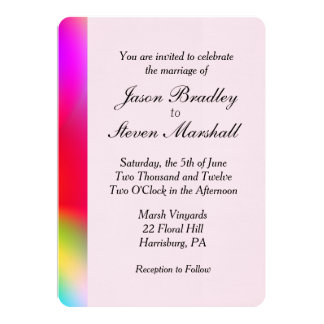 Rainbow Colors Wedding Gay Interest Card