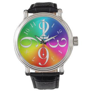 Rainbow colors wrist watches