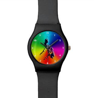 Rainbow colors wristwatch