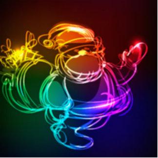 Rainbow Colors Xmas Christmas Stocking Stuffer Cutout