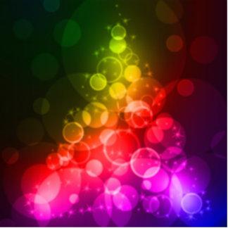 Rainbow Colors Xmas Christmas Stocking Stuffer Statuette