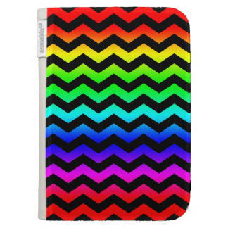 Rainbow Colors Zig Zag Pattern Case For The Kindle