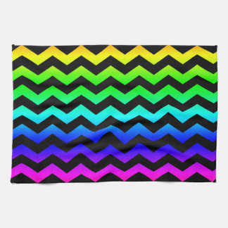 Rainbow Colors Zig Zag Pattern Towels